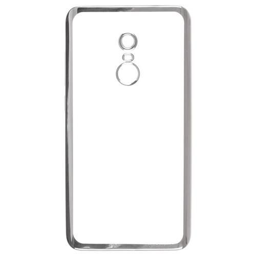 Накладка силиконовая skinBox chrome Xiaomi Redmi Note 4 Silver