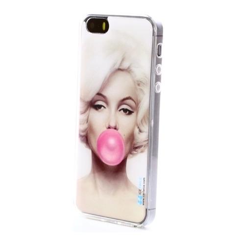 Накладка силиконовая IceTwice iPhone 5/5S/SE Marilyn Bubble Gum №894