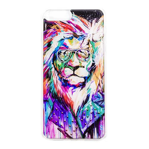 Накладка силиконовая IceTwice iPhone 7 / iPhone 8 Plus Лев Хипстер №840