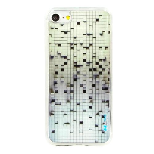 Накладка силиконовая IceTwice iPhone 7 Черно-Белые Пиксели №938