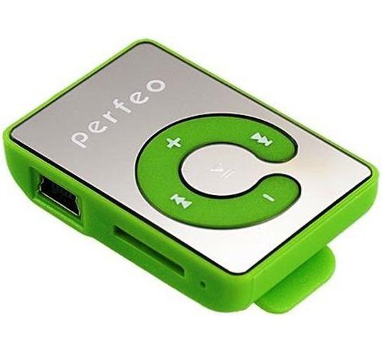 Плеер Mp3 Perfeo Music Clip Titanium M003 Green