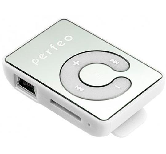 Плеер Mp3 Perfeo Music Clip Titanium M003 White