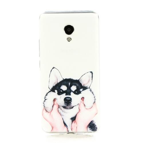 Накладка силиконовая Goodcase Meizu M5 Хаски