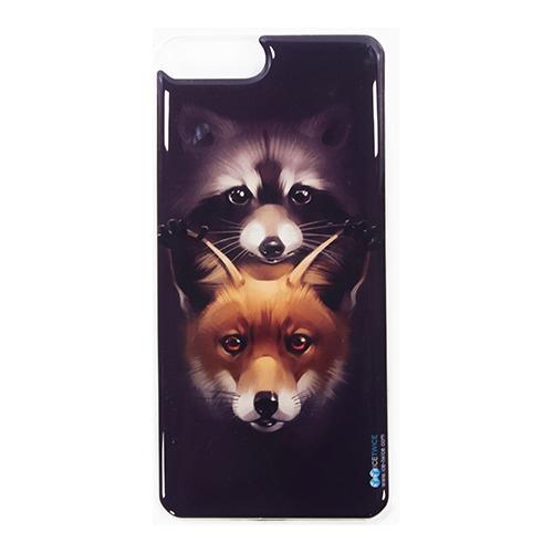 Накладка силиконовая IceTwice iPhone 7 / iPhone 8 Plus Енот и Лиса №989
