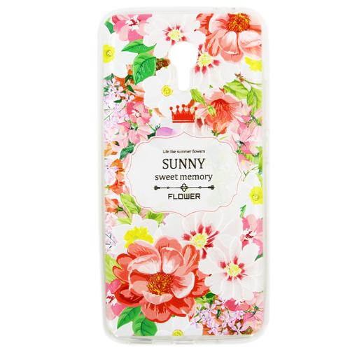 Накладка силиконовая Goodcase Meizu M3 Note Цветы №3