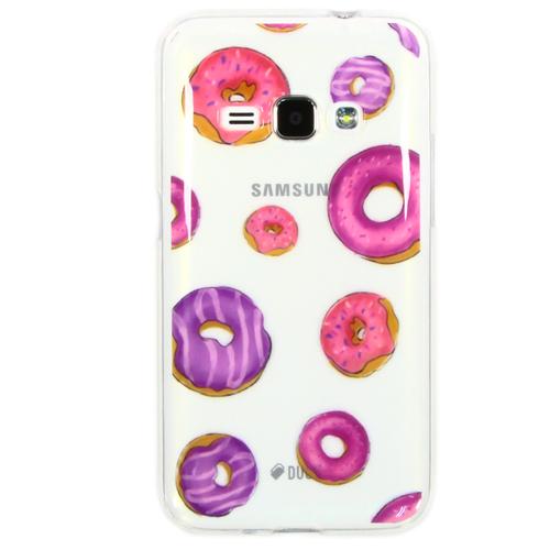 Накладка силиконовая Goodcase Samsung J1 (2016) Пончики