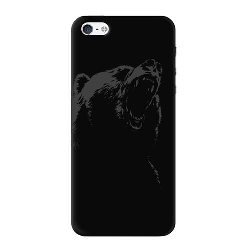 Накладка пластиковая Deppa Art Case iPhone 5/5S/SE Black Медведь