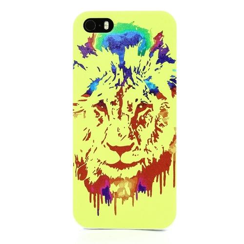 Накладка пластиковая QRCase iPhone 5/5S Жёлтый лев U881W