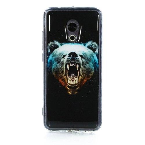 Накладка силиконовая IceTwice Meizu Pro 6 Медведь №1024