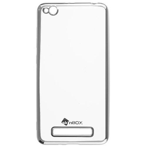 Накладка силиконовая skinBox chrome Xiaomi Redmi 4A Silver