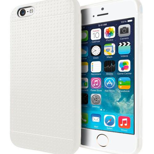Накладка силиконовая Cover KWD iPhone 5/5S Slim White