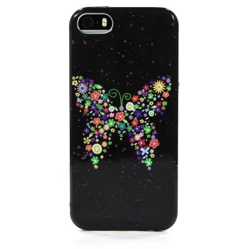 Накладка силиконовая iPhone 5/5S Бабочка (SDST)