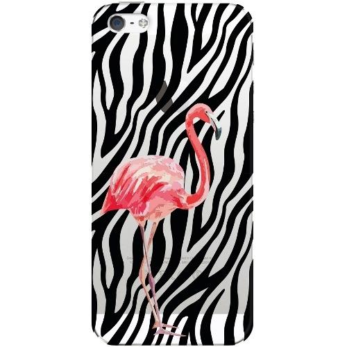 Накладка пластиковая Deppa Art Case iPhone 5/5S/SE Jungle Фламинго