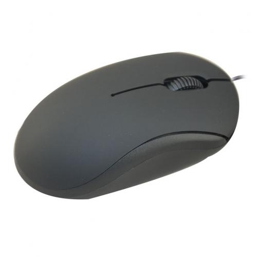 Мышь компьютерная проводная Ritmix ROM-111 USB Black фото