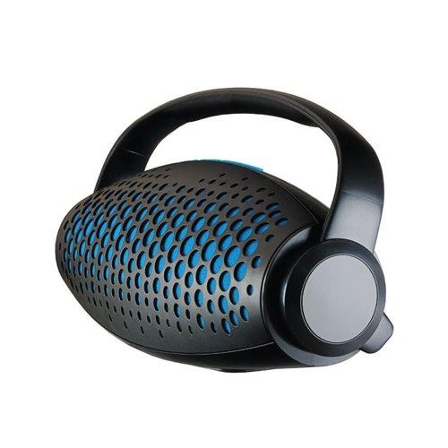 Колонка Ginzzu Bluetooth GM-989B 2x5W/USB-flesh/TF/AUX/FM Blue