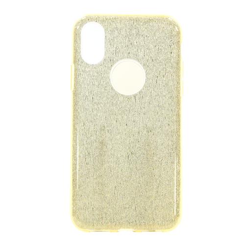 Накладка силиконовая Fashion Case Iphone X Shining 2 in 1 Gold