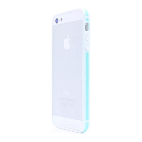 Бампер Deppa Slim для iPhone 5/5S/SE White/Green
