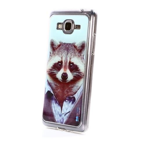 Накладка силиконовая IceTwice Samsung Galaxy Grand Prime Енот №986