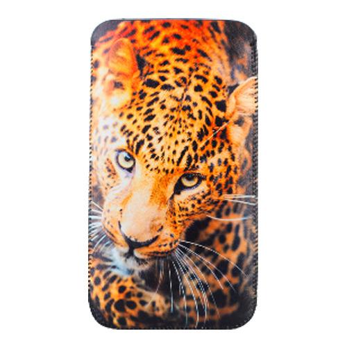 Сумочка VENERA Леопард р97 кожаная чёрная