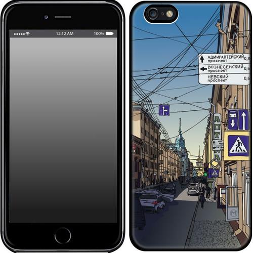 """Накладка пластиковая HAPPYTIME IPhone 6+/6S+ """"Улица Гороховая"""""""