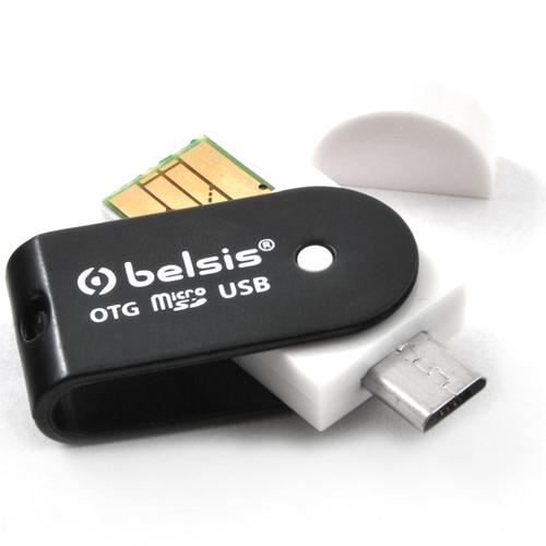 USB картридер Belsis OTG + microUSB BM1003 Black