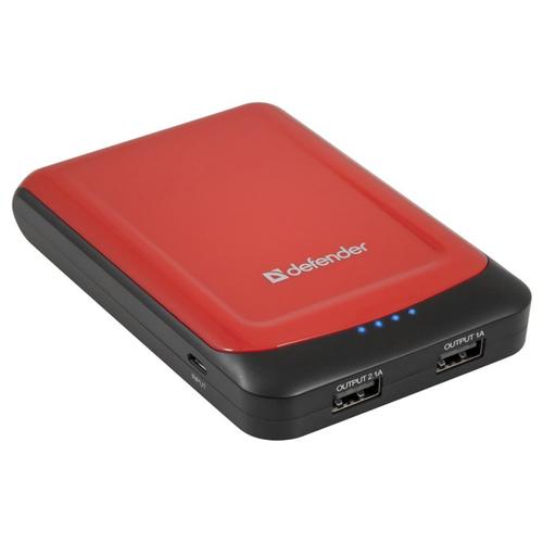 Внешний аккумулятор Defender Extralife 10400 10400mAh Black/Red