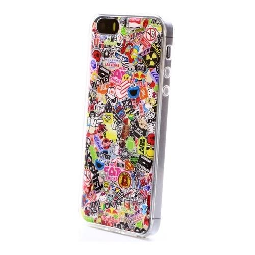 Накладка силиконовая IceTwice iPhone 5/5S StickerBomb №524