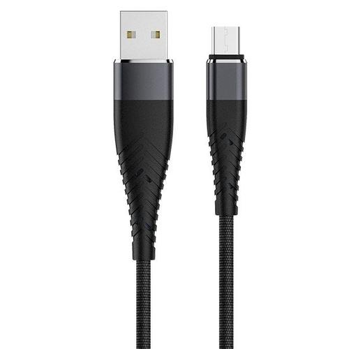 USB кабель OLMIO Solid USB 2.0 - microUSB 1.2m Black фото