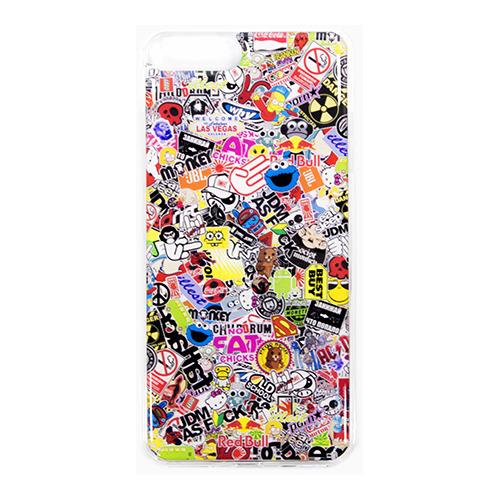Накладка силиконовая IceTwice iPhone 7 Plus StickerBomb №524