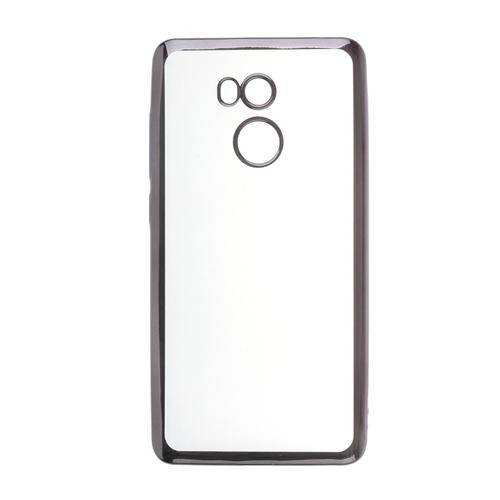 Накладка силиконовая skinBox chrome Xiaomi Redmi 4 Pro Dark Silver