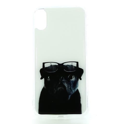 Накладка силиконовая IceTwice iPhone X Собака и очки  №1188