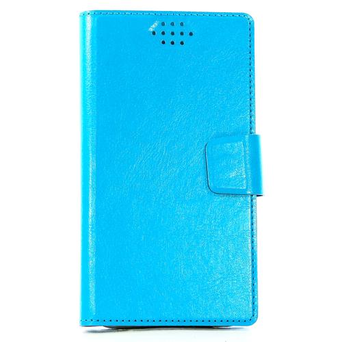 """Чехол-книжка Code универсальный M (4.3""""-5.5"""") Blue"""