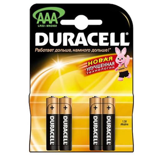 Батарея Duracell LR03 AAA (блистер 4шт.)