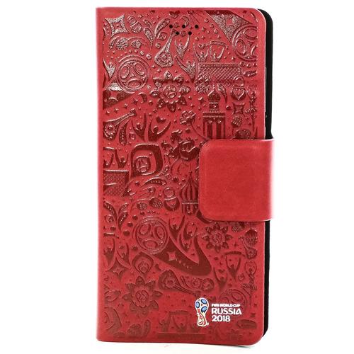 """Чехол-книжка Deppa Wallet M универсальный (4.3""""-5.5"""") FIFA Official Pattern Red"""