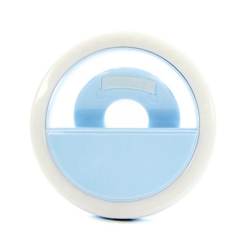 Вспышка для селфи Goodcom LED Ring 01 встр. АКБ Blue