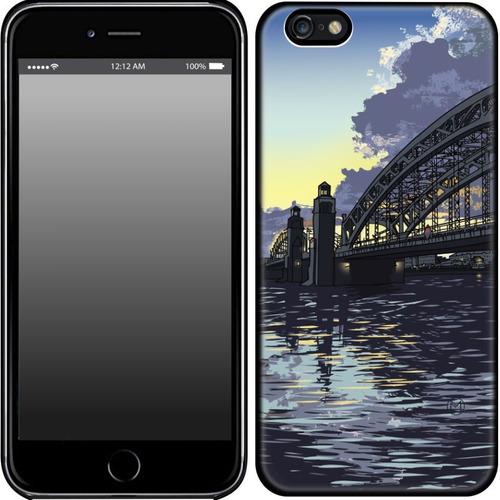 "Накладка пластиковая HAPPYTIME IPhone 6+/6S+ ""Большеохтинский мост"""