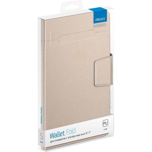 Чехол - книжка Deppa Wallet Fold (6'-7') для эл.устройств Blue фото 2