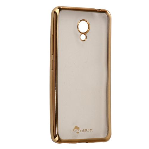 Накладка силиконовая skinBox chrome Meizu M5C Gold