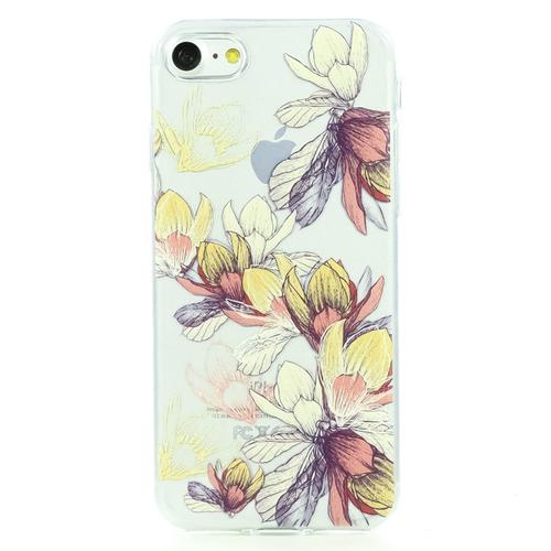 Накладка силиконовая BoraSCO ArtWorks iPhone 7/8 Цветы №4