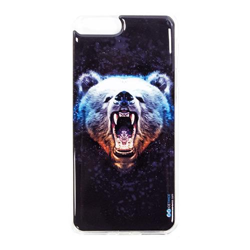 Накладка силиконовая IceTwice iPhone 7 Plus Медведь №1024