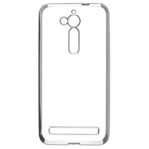 Накладка силиконовая skinBox chrome  Asus ZenFone Go ZB500KL Silver