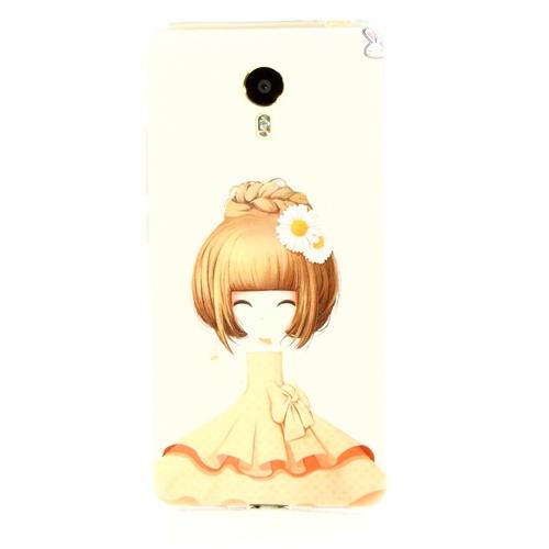 Накладка силиконовая Goodcase Meizu M3 Note Девочка с ромашкой