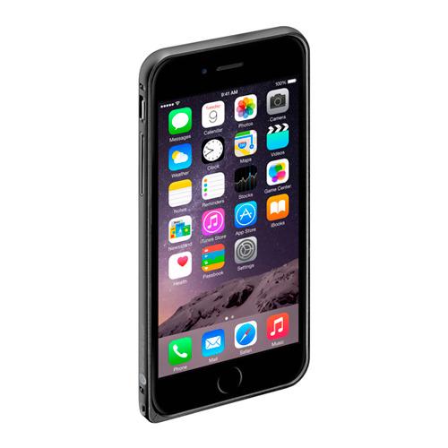 Бампер Deppa Alum для iPhone 6 и плёнка Black