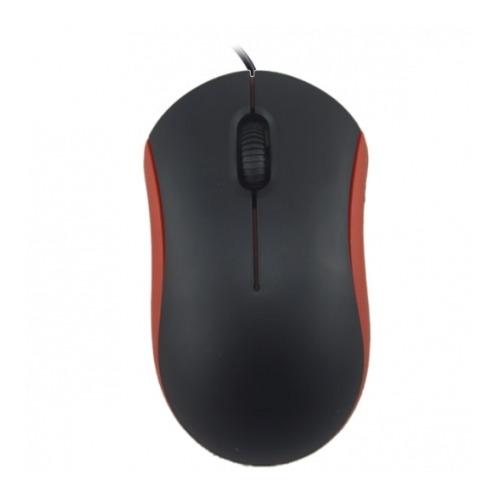 Мышь компьютерная проводная Ritmix ROM-111 USB Black/Red