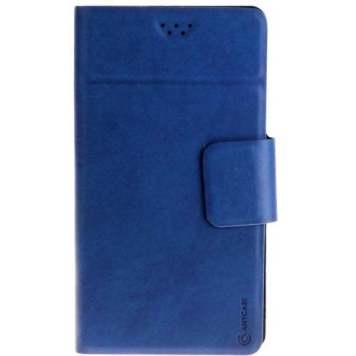 """Чехол-книжка Anycase Wallet Fold M универсальный (4.3""""-5.5"""") Blue"""