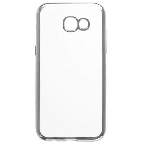 Накладка силиконовая skinBox chrome Samsung Galaxy A5 (2017) Silver