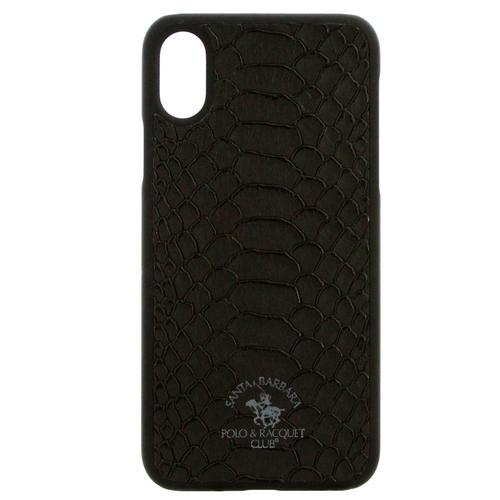 Накладка кожаная Polo Knight для iPhone X Black