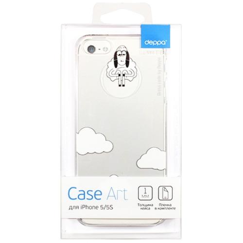 Накладка пластиковая Deppa Art Case iPhone 5/5S Будни Петра Облако