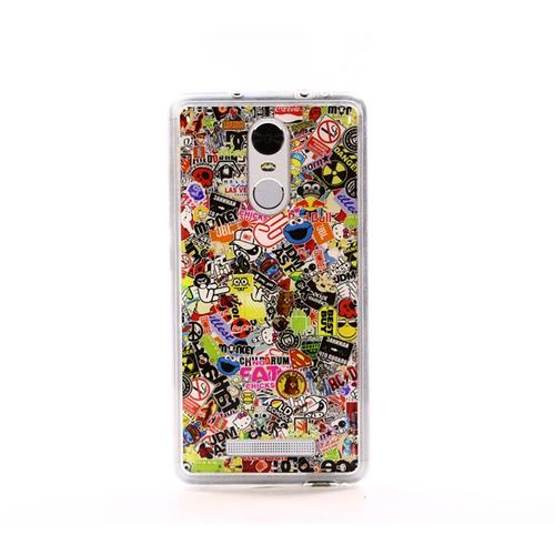 Накладка силиконовая IceTwice Xiaomi Redmi Note 3 StickerBomb №524