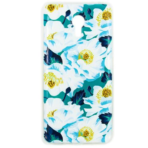 Накладка силиконовая Goodcase Meizu M3 Note Цветы №1
